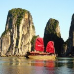 A trip to Hanoi is not complete without visiting Halong Bay